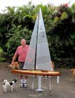 model sailboat racing