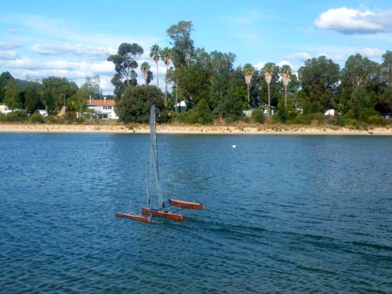 RC model sail boat