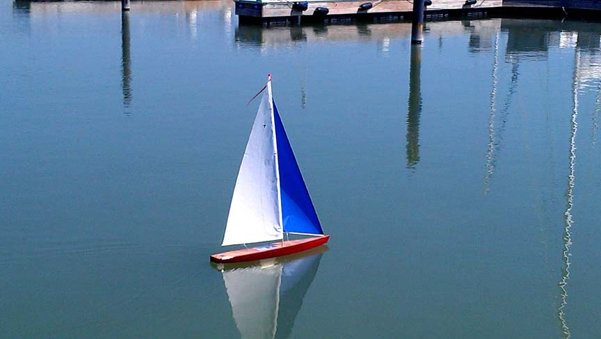 model toy sailboat
