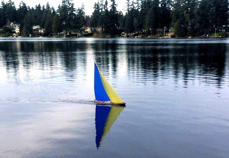 RC model sailboat