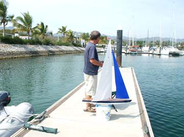 model remote-controlled sailboat