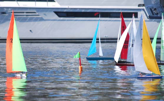 racing mark for remote controlled sailboat racing