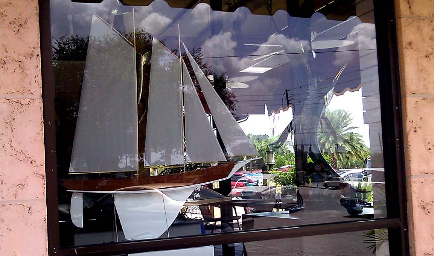 RC schooner model sailboat
