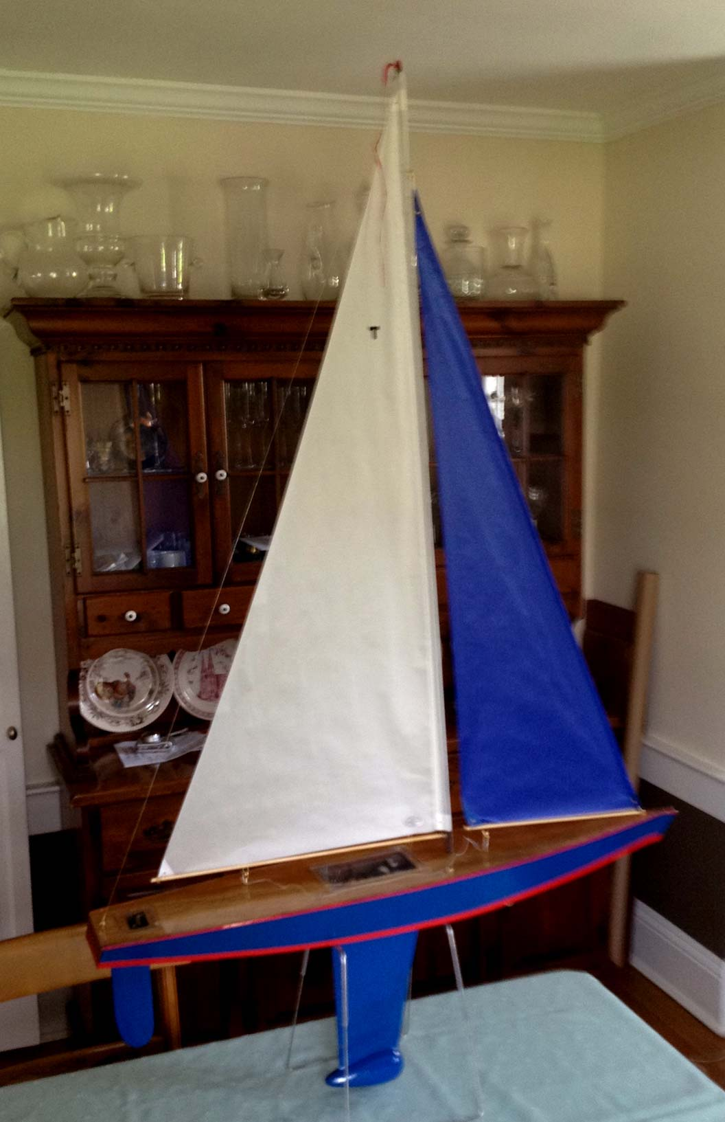 rc model sail boat toy