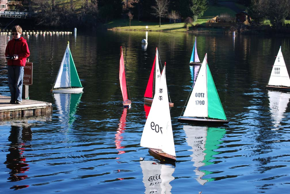 remote control sailboat race