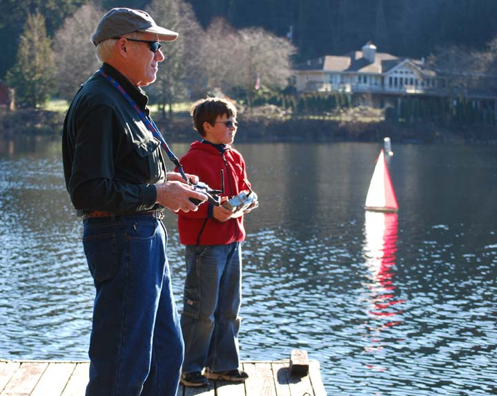 radio control sailboats Lake Samish
