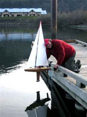Radio controlled sailboat