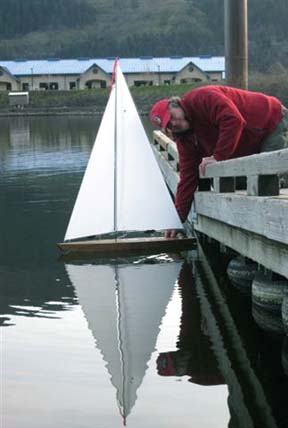 RC sailboat model
